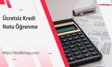 Ücretsiz Kredi Notu Öğrenme – En Kesin 2 Yöntem